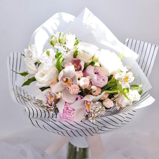 Воздушный солнечный букет: букеты цветов на заказ Flowwow