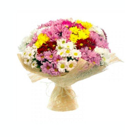 Букет 25 хризантем: букеты цветов на заказ Flowwow