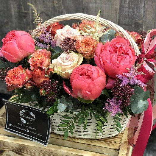"Корзина цветов ""Николет"": букеты цветов на заказ Flowwow"