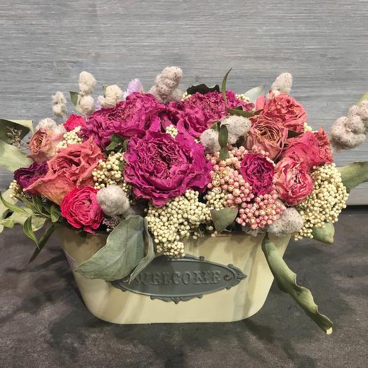 Сухоцветы шарм: букеты цветов на заказ Flowwow