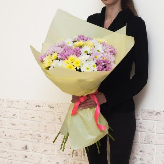 Букет из 19 хризантем: букеты цветов на заказ Flowwow