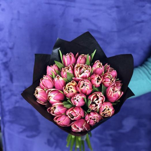 Букет пионовидных тюльпанов: букеты цветов на заказ Flowwow