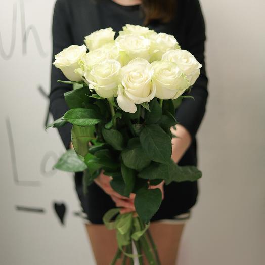 Букет из 11 белых роз 70 см: букеты цветов на заказ Flowwow