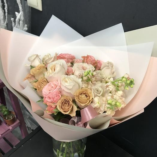 Сливочный капучино: букеты цветов на заказ Flowwow