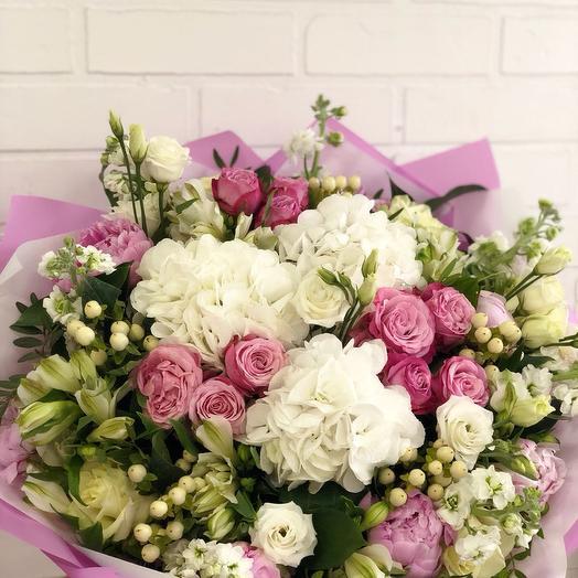 Изысканная нежность: букеты цветов на заказ Flowwow