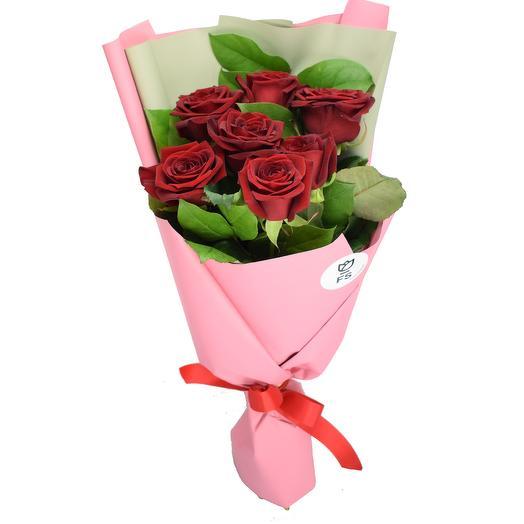 Оформить красиво букет 3 5 розовых