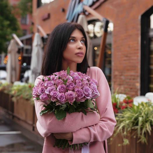 """Букет """"51 Роза сиреневая"""": букеты цветов на заказ Flowwow"""