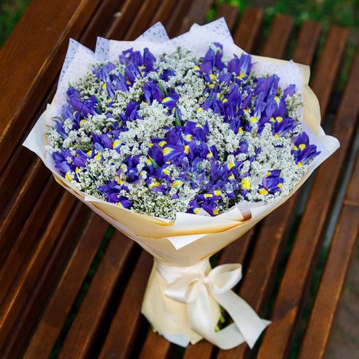 "Букет ""45 Ирисов"": букеты цветов на заказ Flowwow"