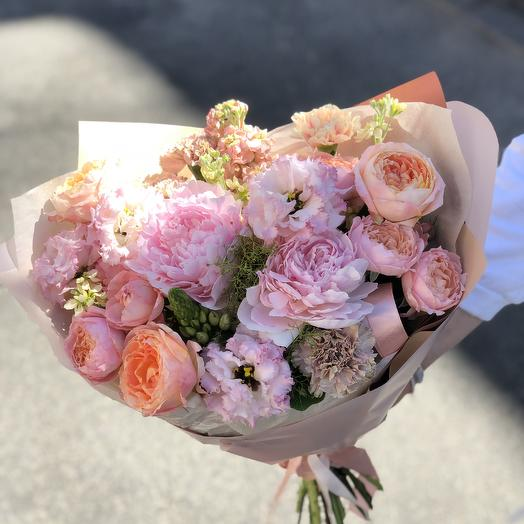 Персиковый букет: букеты цветов на заказ Flowwow