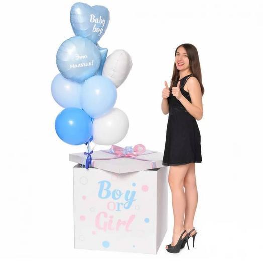 Коробка 7 с воздушными шарами: букеты цветов на заказ Flowwow