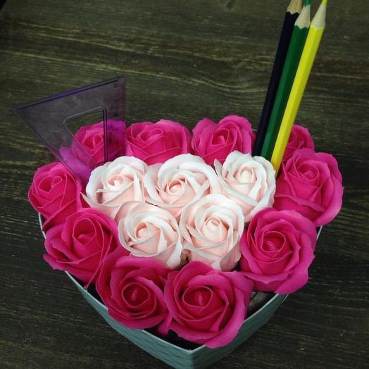 РОЗА ИЗ МЫЛА.Моей ученице: букеты цветов на заказ Flowwow