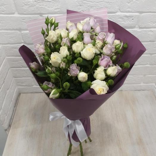 Букет 7 кустовых роз: букеты цветов на заказ Flowwow