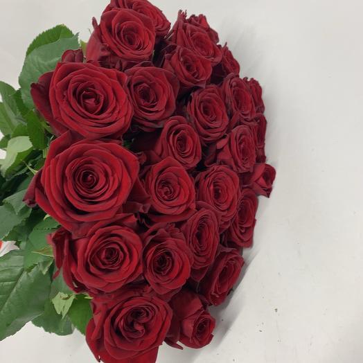 25 Красных роз 70см: букеты цветов на заказ Flowwow