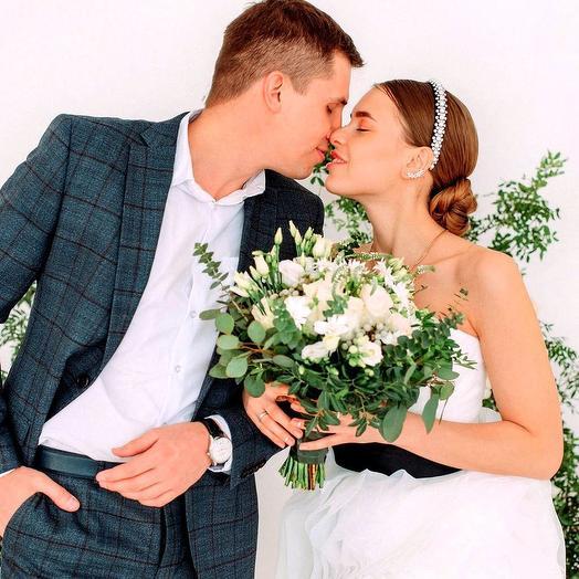 Свадебный букет Greenery Wedding: букеты цветов на заказ Flowwow