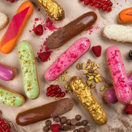 Набор из 6 эклеров разных вкусов