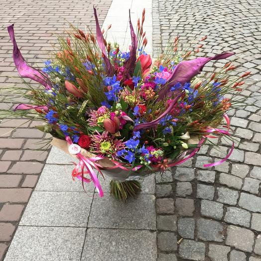 Large Bouquet purple red pink blue