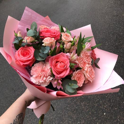 Букет «Розовый персик»