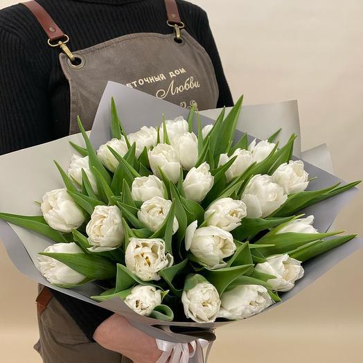 Тюльпаны белый шик
