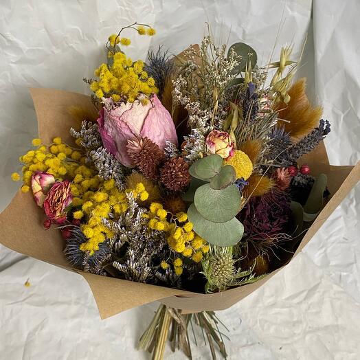 Эко-букет из сухоцветов