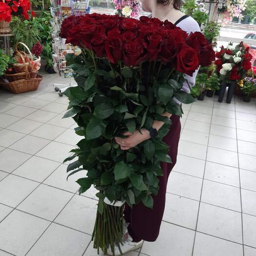 Букет больших роз