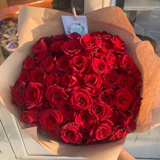 Букет из 51 розы 40 см