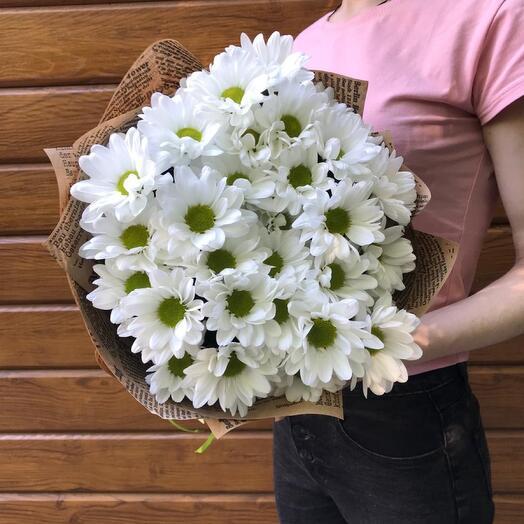 Flowers Lovers - 5 ромашковых хризантем в оформлении