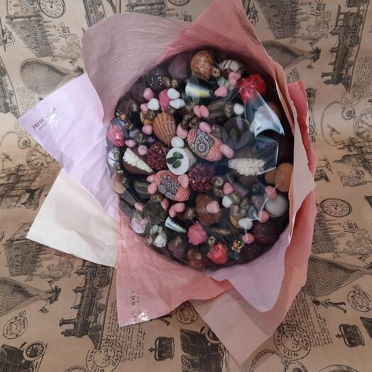 Букет из конфет ручной работы French Kiss Spb