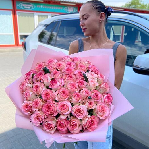 """Букет розовых роз""""Джумилия"""""""