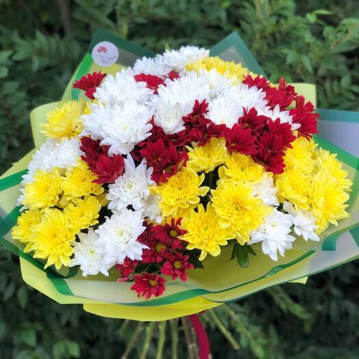 Букет из хризантем «Осенний»