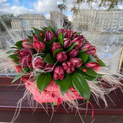 Букет цветов «Бордо»