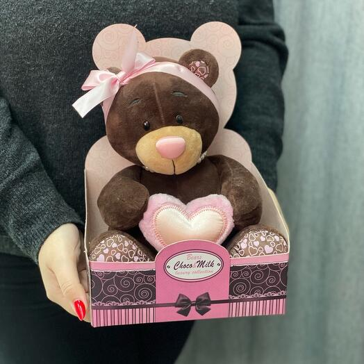 Медведь в подарочной коробке