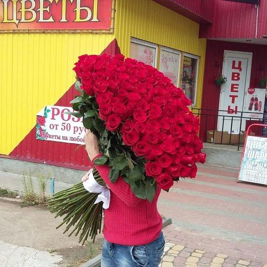 101метровая роза: букеты цветов на заказ Flowwow
