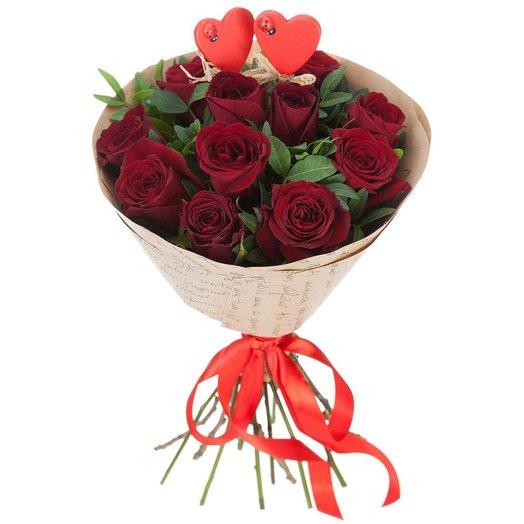 Букет Люблю: букеты цветов на заказ Flowwow
