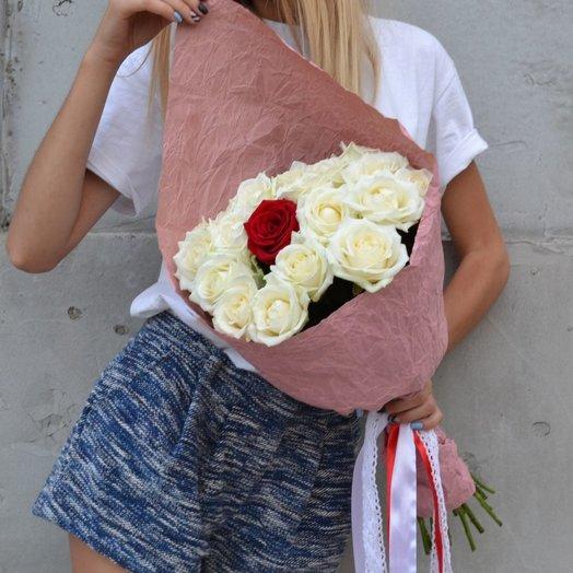 A bouquet of roses: букеты цветов на заказ Flowwow
