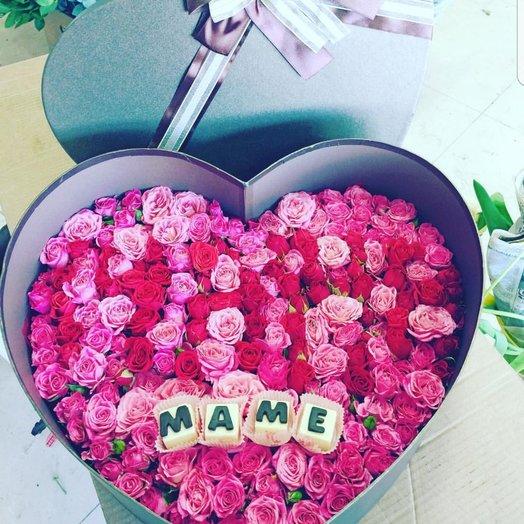 Коробочка Для Мамочке: букеты цветов на заказ Flowwow