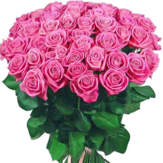 Букет из ярко розовой розы: букеты цветов на заказ Flowwow