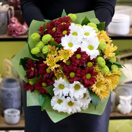 Букет цветов Хризантемы осенью: букеты цветов на заказ Flowwow