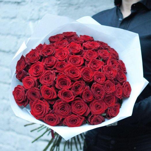 RED: 51 Роза: букеты цветов на заказ Flowwow