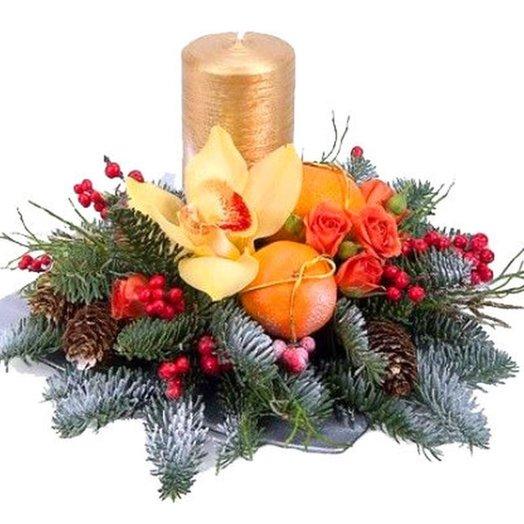 "Корзина ""Аромат Нового года"". Код 180001"