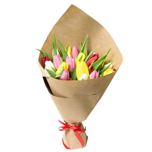 Букет 15 тюльпанов: букеты цветов на заказ Flowwow