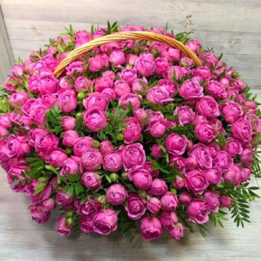 Корзина Мисти Баблс: букеты цветов на заказ Flowwow