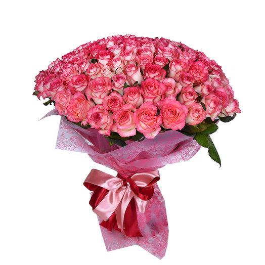 Букет из 101 роза джумелиа: букеты цветов на заказ Flowwow