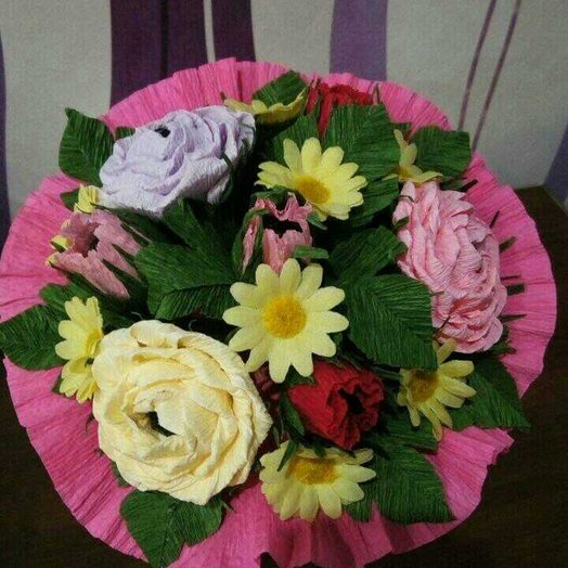 Сладкий букет из роз и ромашек: букеты цветов на заказ Flowwow