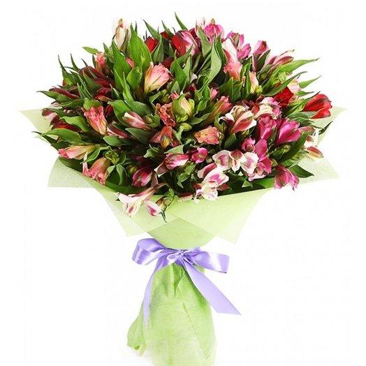 """Букет """" 25 альстромерий"""": букеты цветов на заказ Flowwow"""