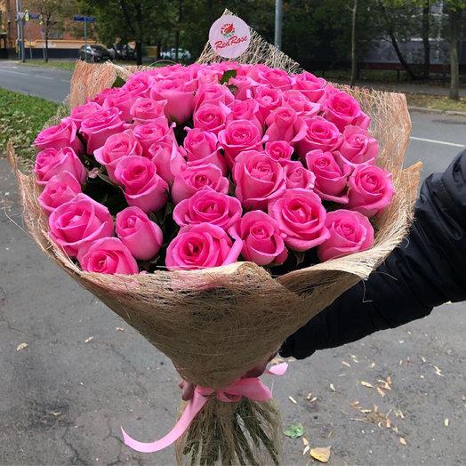 Букет из 51 розы Ревиваль 50см: букеты цветов на заказ Flowwow
