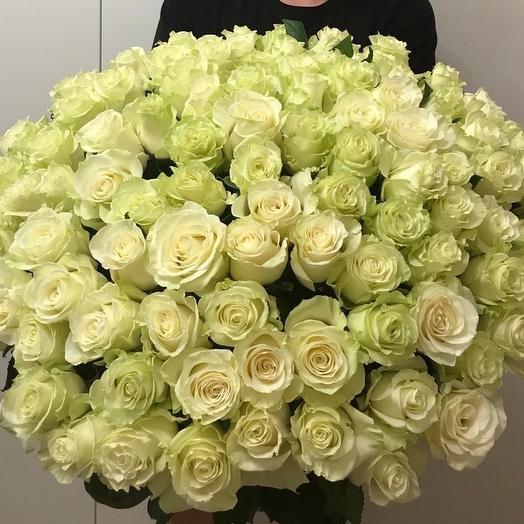 101 светлая роза: букеты цветов на заказ Flowwow