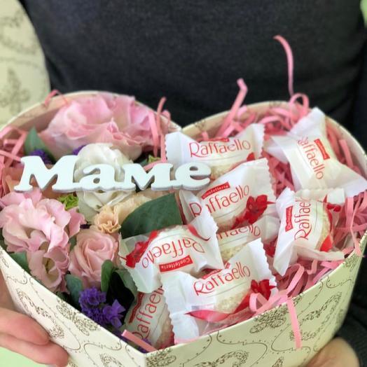 Сердечный подарок 💝: букеты цветов на заказ Flowwow
