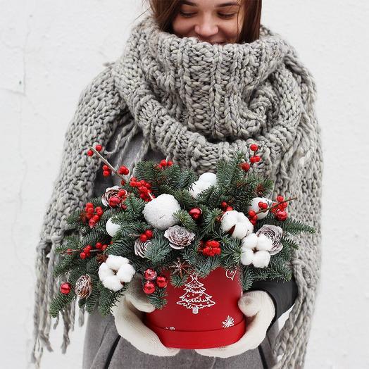 Новогодняя композиция 10: букеты цветов на заказ Flowwow
