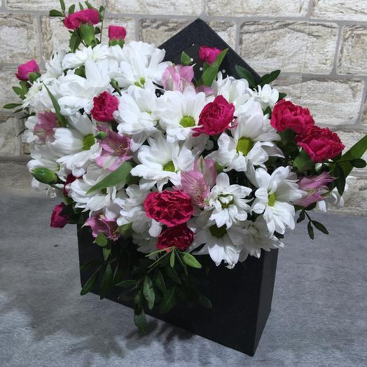 Конверт с цветами: букеты цветов на заказ Flowwow