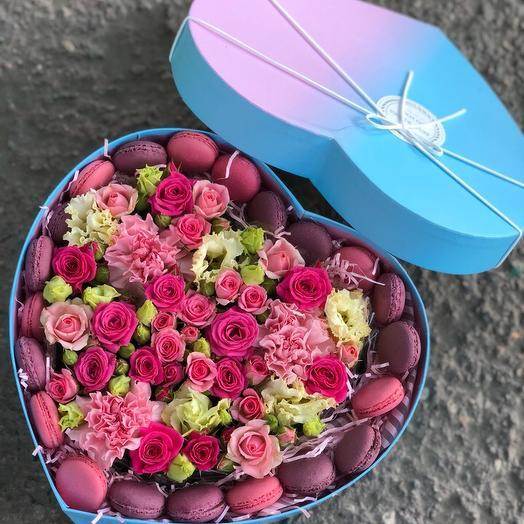 Вкусное сердце в подарок: букеты цветов на заказ Flowwow